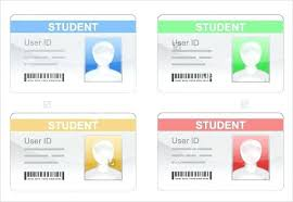 Identity Card Format For Student Student Id Template Card Free Download School Design T College