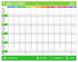 Yearly Calendar Planner Template English Calendar Planner For Year 2018 12 Months Corporate Stock
