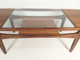 Industrial vibes meet modern style in this coffee table. Mid Century Modern Surfboard Teak Glass Coffee Table By Victor Wilkins Fresco Collection For G Plan Epoch