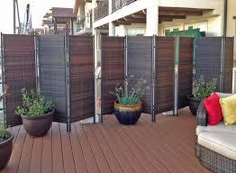 Decorative Wooden Outdoor Privacy Screen Designs Attractive Foldable Wicker  Design Exteriors.
