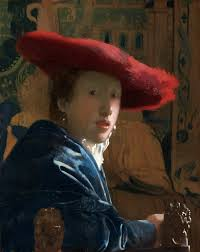 girl with a red