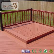 waterproof outdoor easy installation real wood effect wpc decking flooring
