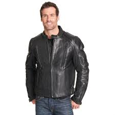 Wilsons Leather Size Chart Wilsons Leather Mens Performance Padded Leather Motorcycle Jacket