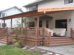 shed style porch roof patio roofs here sloped deck house plans framing rafters plan
