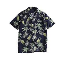 Walmart Shirt Size Chart Mens Hawaiian Short Sleeve Pineapple Printed Beach Shirt