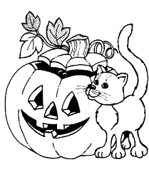 Small Picture Halloween pumpkin coloring pages with cat ColoringStar