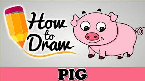 how to draw a cute pig easy step by step cartoon art drawing lesson tutorial for kids beginners you