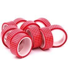10 шт. <b>красная сетка</b> Васи <b>Лента</b> Скрапбукинг <b>Декоративные</b> ...
