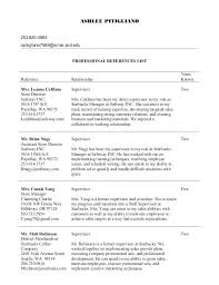 Resume Templates With References Best Of Professional References