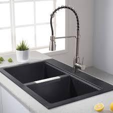 89 creative graceful black granite composite sink care new kitchen modern blanco sinks undermount countertops cream aluminium panel cabinets wickes and taps