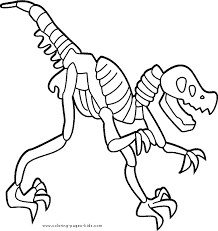 Small Picture Dinosaur Skeleton Coloring Page Clipart Panda Free Clipart Images