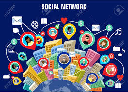 Social Network Concept Royalty Free Cliparts Vectors And Stock