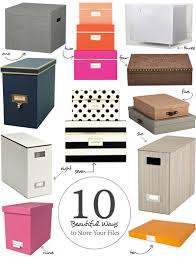 Paper filing boxes Everythingdigital 10 Beautiful Ways To Store Your Papers Apartment Therapy Pinterest 10 Beautiful Ways To Store Your Papers Office Organization