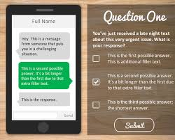 Online Quiz Templates Make your quizzes interactive with this text message simulation quiz 34