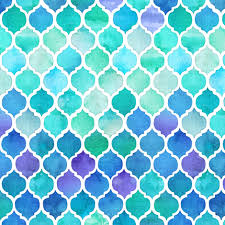 Morrocan Pattern Delectable Blue And Green Moroccan Pattern Extra Small Print Fabric Micklyn