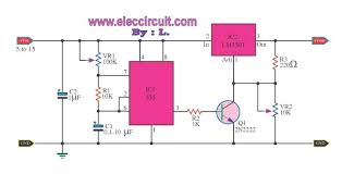 simple pulse generator circuit by ic timer pulse generator by ic lm350t and 555