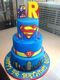 4th Birthday Cakes For Boys Birthday Boy 3 Tier Cake Superman Fourth