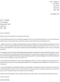 company secretary cover letter example cover letter for it company