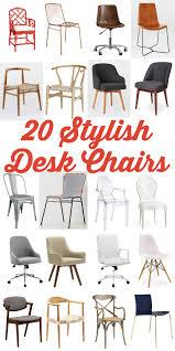 home office desk chairs chic slim. 20 Stylish Desk Chairs \u2013 The House Of Wood . Home Office Desk Chairs Chic Slim