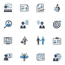 Занятость и бизнес иконки голубой серии Клипарты векторы и  Занятость и бизнес иконки голубой серии Фото со стока 18008810