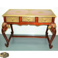 Indian Style Coffee Table Teak Brass Elephant Console Table