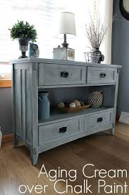 furniture paint ideas. aging cream finish over chalk paint furniture ideas i