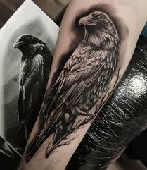 My First Tattoo Amazing Black And White Crow Nicklas Granath Le