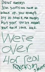 Breakup Letters 15 Most Absurd Breakup Letters Ever - The Hollywood Gossip