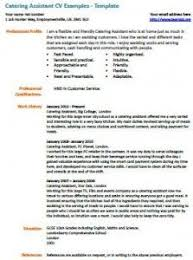 Catering Job Description For Resume Catering Assistant Cv Example Cv Examples Job Resume