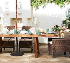 benchwright outdoor rectangular dining table pottery barn with regard to design