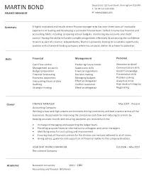 Sample Finance Manager Resume Lines Account Manager Resume Example ...
