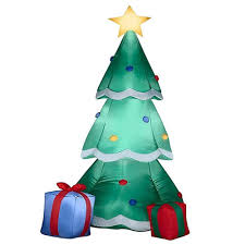 Inflatable Christmas Tree With Lights 160cm Giant Inflatable Christmas Tree With Gift Boxes Led Lighted Toys Birthday Wedding Christmas Party Props Yard Home Deco Outdoor Christmas