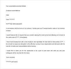 Notice Period Resignation Letter Resignation Letter Template Notice Period Juzdeco 2