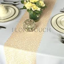 wedding table runners champagne gold lace table runner with scalloped edge wedding table runner wedding wedding table runners