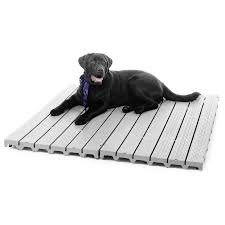 details dog kennel deck flooring raised system outdoor