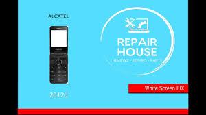 Alcatel 2012d White Screen FIX !! - YouTube
