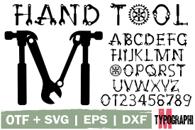 Aspose.page eps converter transforms postscript to svg with maximum conformity with an exception of case when eps file contains fonts that are not. Hand Tool Font By Typography Morozyuk Creative Fabrica