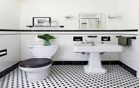 bathroom tiles black and white. Contemporary Black Retro Modern Bathrooms Black White Bathroom Floor Tile  To Tiles And