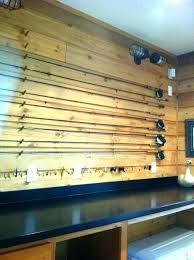 fishing rod wall rack pole storage ceiling plans