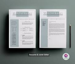 Resume Template Download Professional Two Page Resume Set Resume