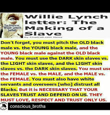 william lynch letter vm i lie lynch i et term the infamous willie lynch letter by