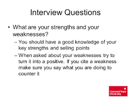 what is your weakness interview question resume weaknesses and strengths