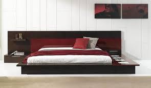 Rimini Contemporary Walk on Platform Bed Contemporary Bedroom