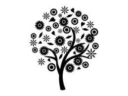 白黒シルエット花花束のイラスト素材無料 じゃぱねすくライフ