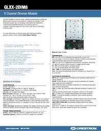 2013 Title 24 Lighting Spec Sheet Glxx 2dim8 8 Channel Dimmer Module