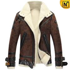 mens sheepskin motorcycle jacket