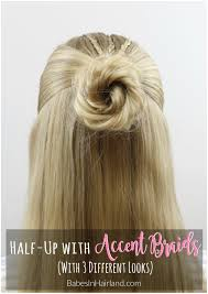 Different Hairstyle halfup hairstyle with accent braids 3 different looks 2626 by stevesalt.us