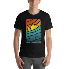 The Mountain Shirt Size Chart Mad Mountain Abstract Mens Short Sleeve T Shirt Mad Mountain