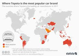 Toyota Sales Chart Chart Where Toyota Is The Most Popular Car Brand Statista