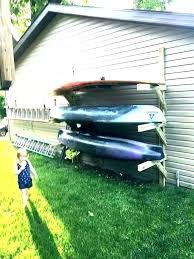 kayak storage rack ideas outdoor build your own diy